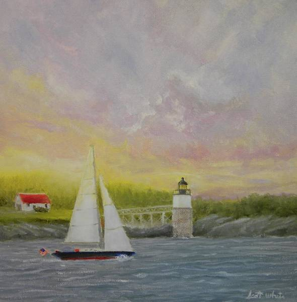 Sailing By Ram Island Art Print