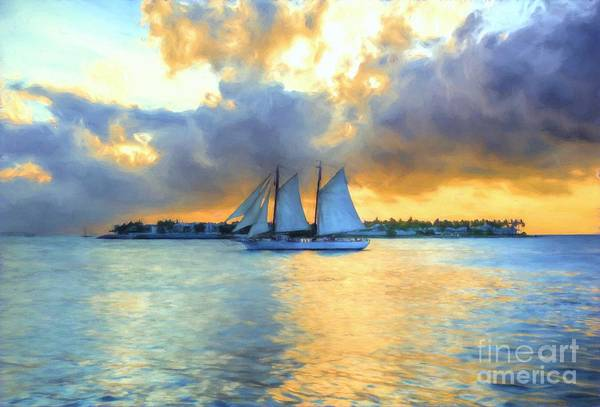 Photograph - Sailing By Sunset Key by Mel Steinhauer