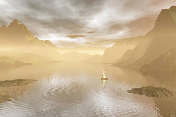 Summertime Digital Art - Sailing by Carol and Mike Werner