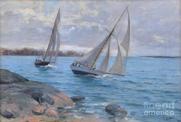 Painting - Sailing by Celestial Images