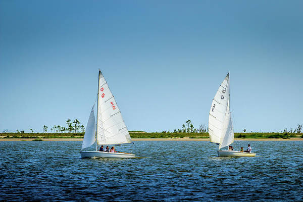 Photograph - Sailing Deer Island by Barry Jones