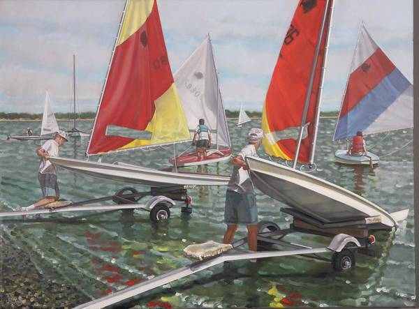 Painting - Sailing Day by Gary M Long
