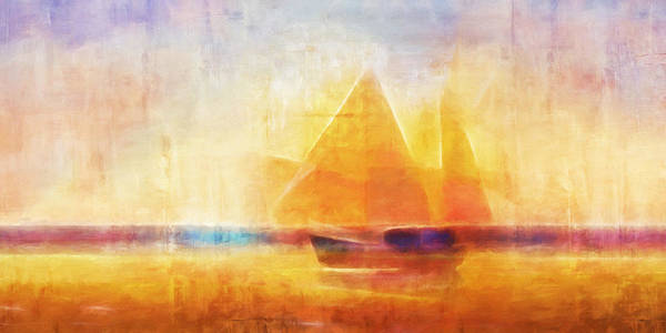 Painting - Sailing Impression Panoramic by Lutz Baar
