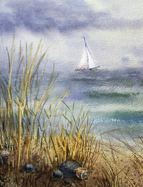 Painting - Sailing In Rough Seas by Irina Sztukowski