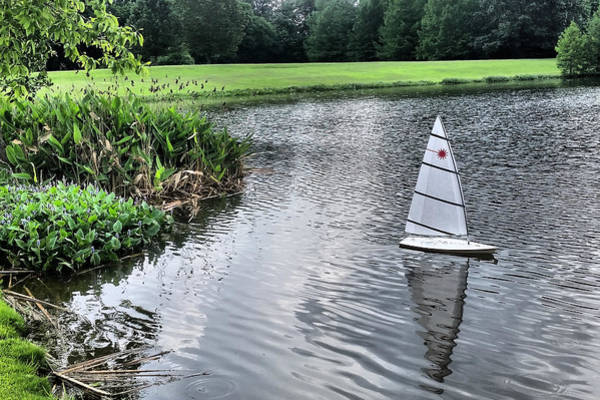 Photograph - Sailing In The Park by Kathy K McClellan