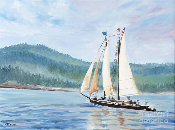 Painting - Sailing Into Castine Harbor by Stella Sherman