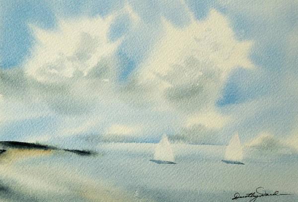 Sailing Into A Calm Anchorage Art Print