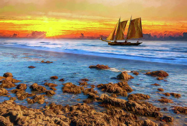 Wall Art - Painting - Sailing Into The Light Ap by Dan Carmichael