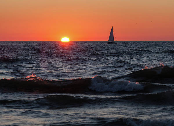 Photograph - Sailing Into The Sunset by Fran Riley