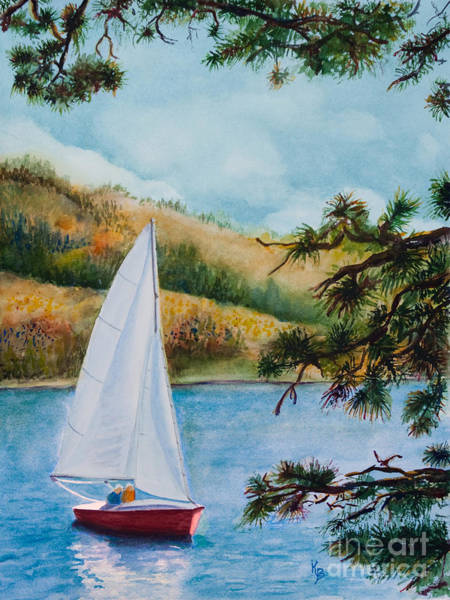 Painting - Sailing by Karen Fleschler