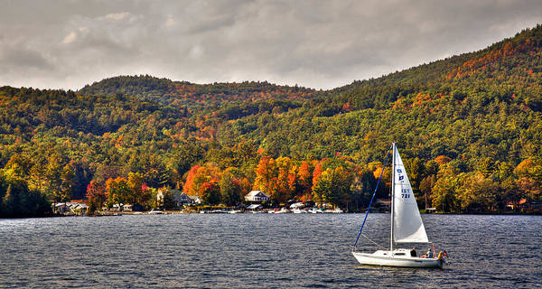 Photograph - Sailing Lake George by David Patterson
