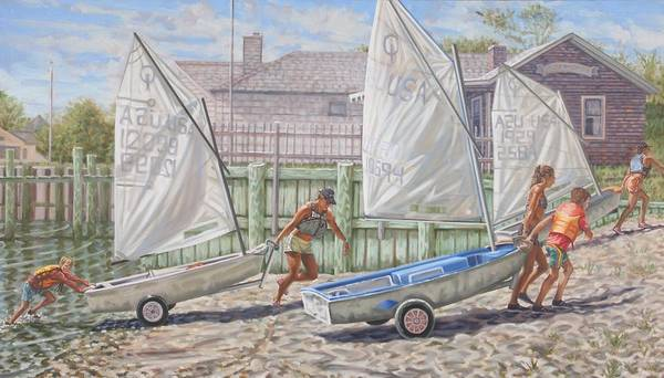 Painting - Sailing Lessons by Gary M Long