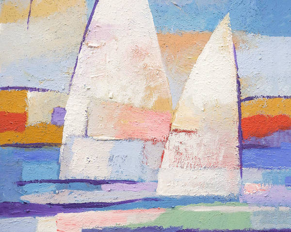 Painting - Sailing Mates by Lutz Baar