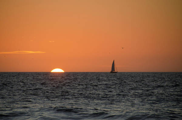 Wall Art - Photograph - Sailing Off Cape May At Sunrise by Bill Cannon