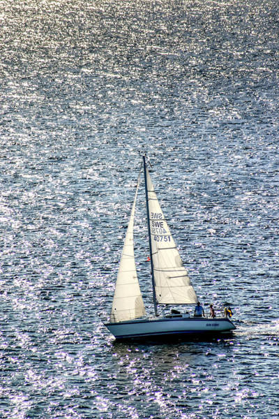Photograph - Sailing Off The Coast Of Denmark by KG Thienemann