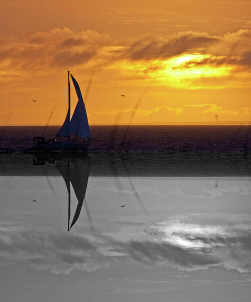 Betsy Wall Art - Digital Art - Sailing On Bald Head Island by Betsy Knapp