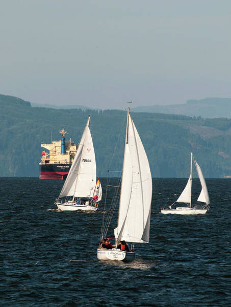 Photograph - Sailing On The Columbia by Robert Potts