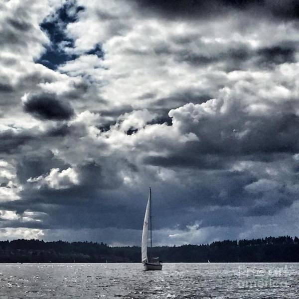 Photograph - Sailing Puget Sound by Vennie Kocsis