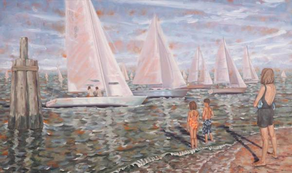 Painting - Sailing Race by Gary M Long