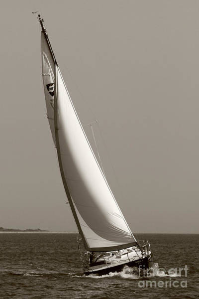 Sailing Sailboat Sloop Beating To Windward Art Print