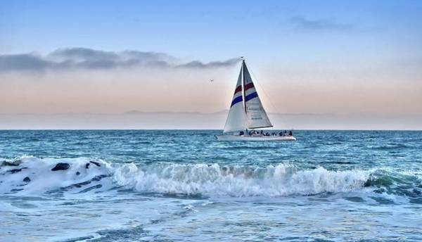 Photograph - Sailing Santa Cruz by Marilyn MacCrakin