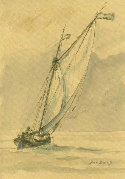 Nautical Painting - Sailing Ship by Juan Bosco