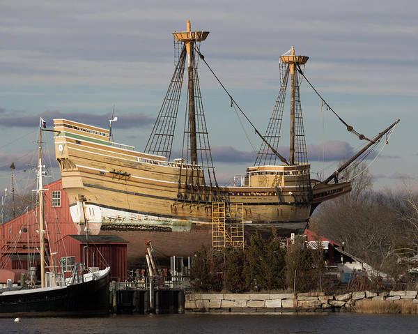 Sailing Ship Repairs Art Print