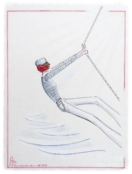 Daring Painting - Sailing Solo by Barbara Chase