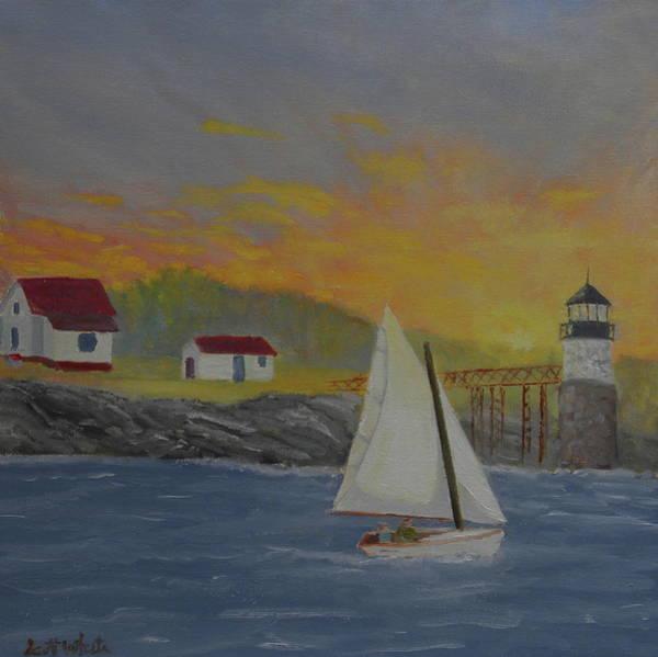 Painting - Sailing Sunrise by Scott W White