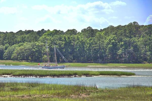 Photograph - Sailing The Intracoastal Near Savannah by Gordon Elwell