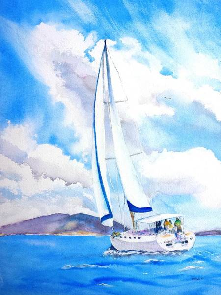 Painting - Sailing The Islands by Carlin Blahnik CarlinArtWatercolor