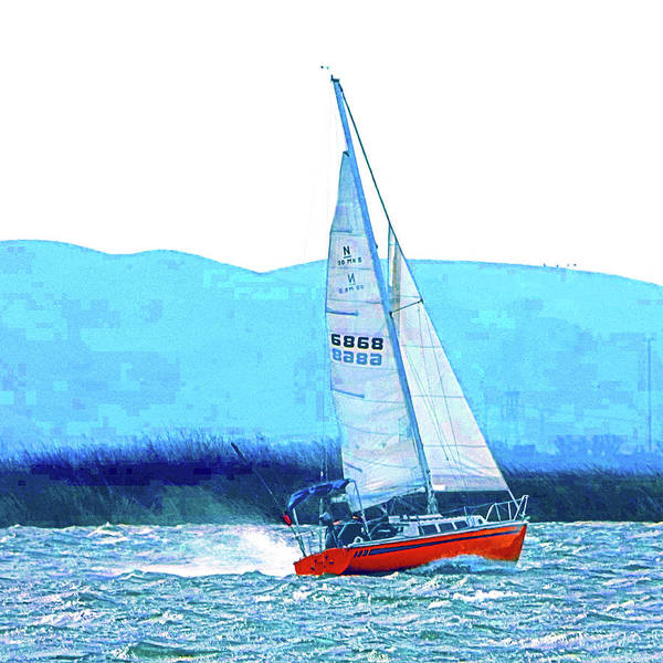 Digital Art - Sailing The San Joaquin by Joseph Coulombe