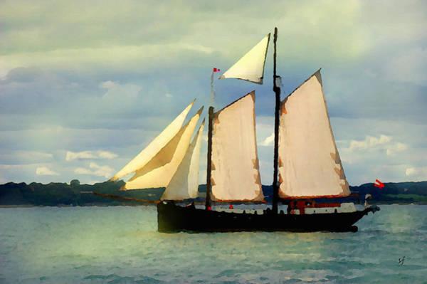 Digital Art - Sailing The Sunny Sea by Shelli Fitzpatrick