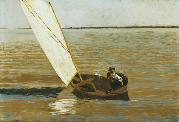 Painting - Sailing by Thomas Eakins