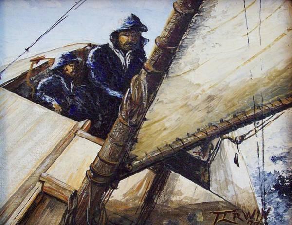Wall Art - Painting - Sailing by Thomas Irwin