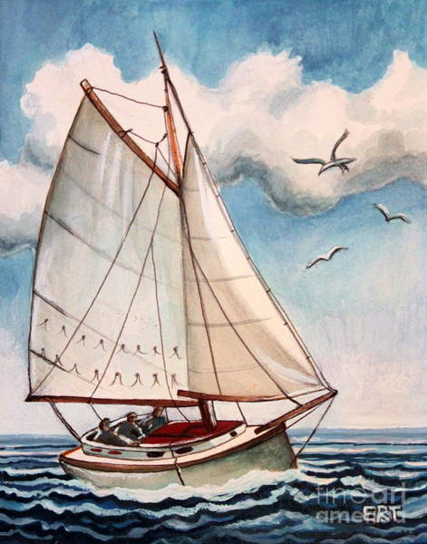 Painting - Sailing Through Open Waters by Elizabeth Robinette Tyndall
