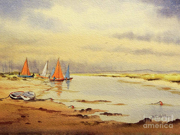 Rudder Painting - Sailing Time by Bill Holkham
