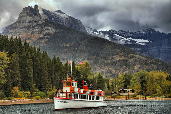 Photograph - Sailing To Goat Haunt by Adam Jewell