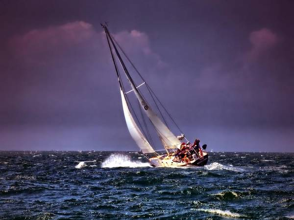 Photograph - Sailing To Nantucket 001 by Bruce Gannon