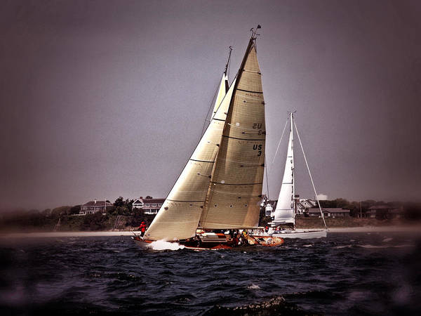 Photograph - Sailing To Nantucket 005 by Bruce Gannon