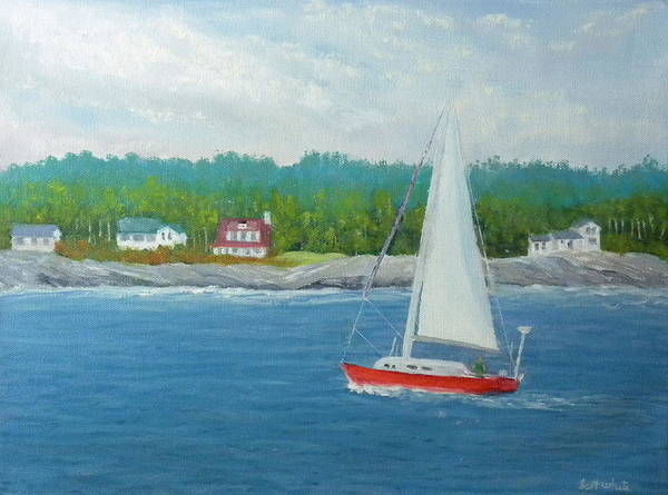 Sailing To New Harbor Art Print