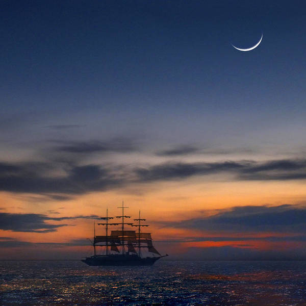 Tall Ships Wall Art - Photograph - Sailing To The Moon 2 by Mike McGlothlen