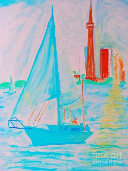 Painting - Sailing Toronto, Canada by Stanley Morganstein