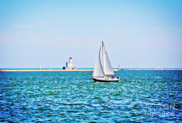 Wall Art - Photograph - Sailing Under A Summer Sky - Milwaukee by Mary Machare