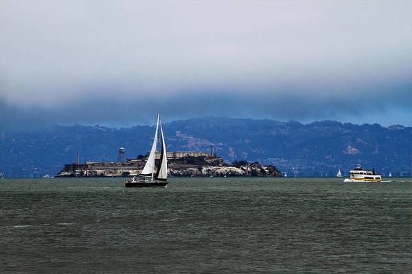Photograph - Sailing Under The Fog by Bonnie Follett