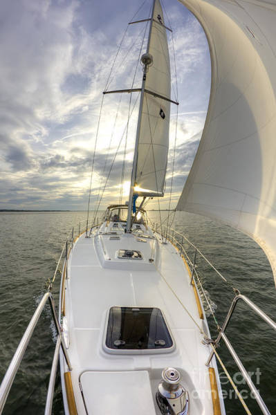 Wall Art - Photograph - Sailing Yacht Fate Beneteau 49 by Dustin K Ryan