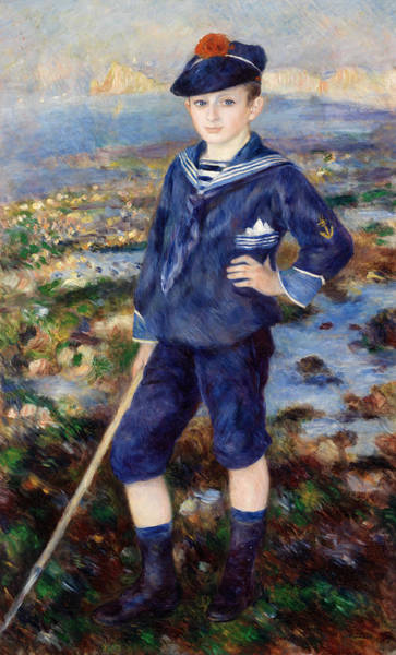 Happy Boy Painting - Sailor Boy by Pierre-Auguste Renoir