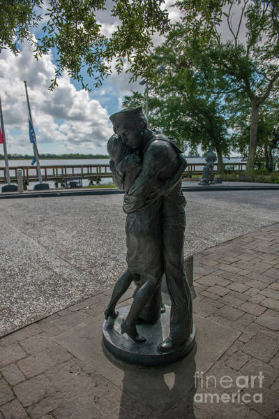 Photograph - Sailor Welcome Home Statue In North Charleston by Dale Powell