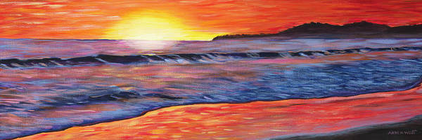 Wave Breaking Painting - Sailor's Delight by Anne West