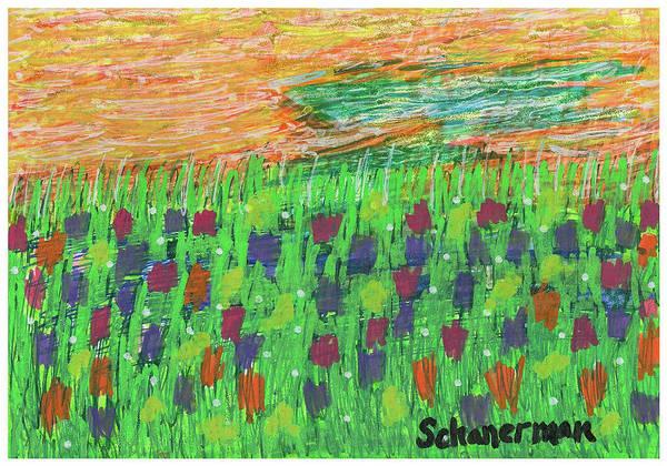 Drawing - Sailor's Delight Redux by Susan Schanerman
